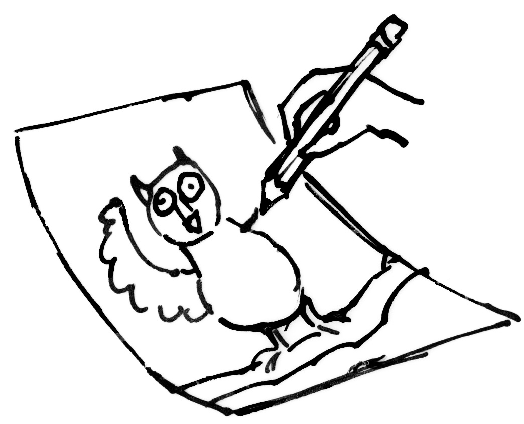 magic dragon children s magazine blog archive how to paint an owl Baby Owl Pencil Drawing how to 1